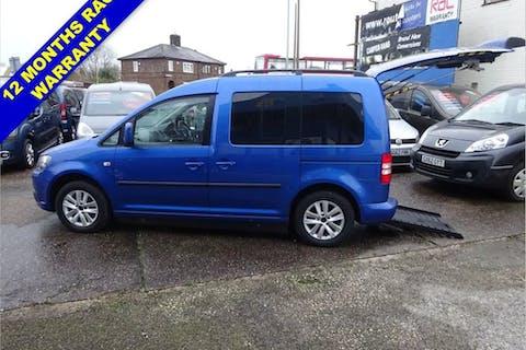 Blue Volkswagen Caddy C20 Life TDi 2012
