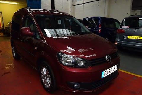 Red Volkswagen Caddy C20 Life TDi 2013