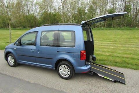 Blue Volkswagen Caddy C20 Life TDi 2016