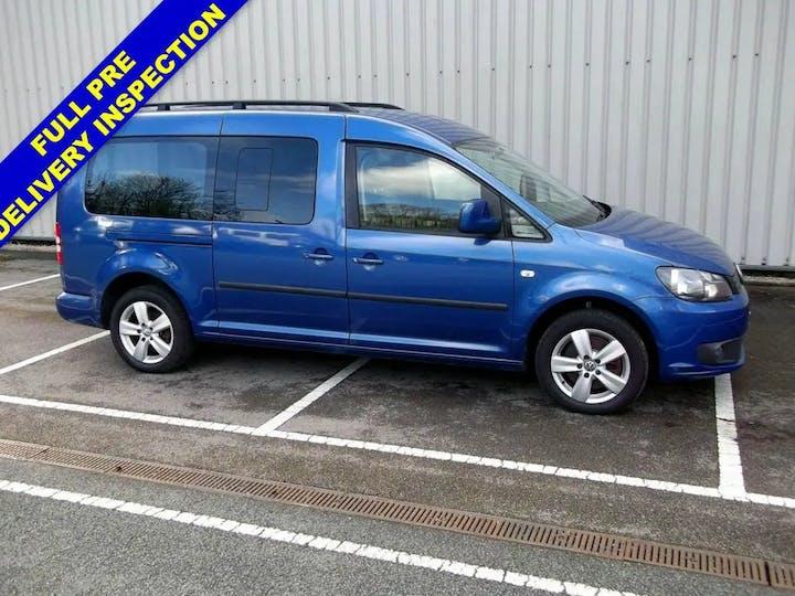 Blue Volkswagen Caddy Maxi C20 Life TDi 2012