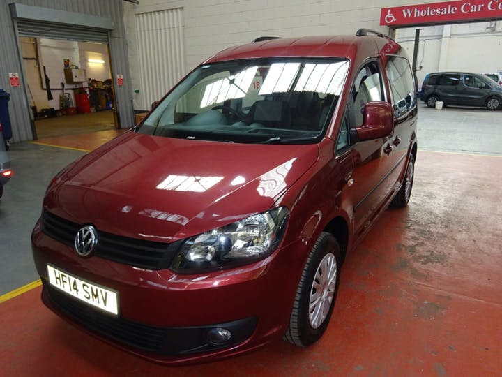 Red Volkswagen Caddy C20 Life TDi 2014