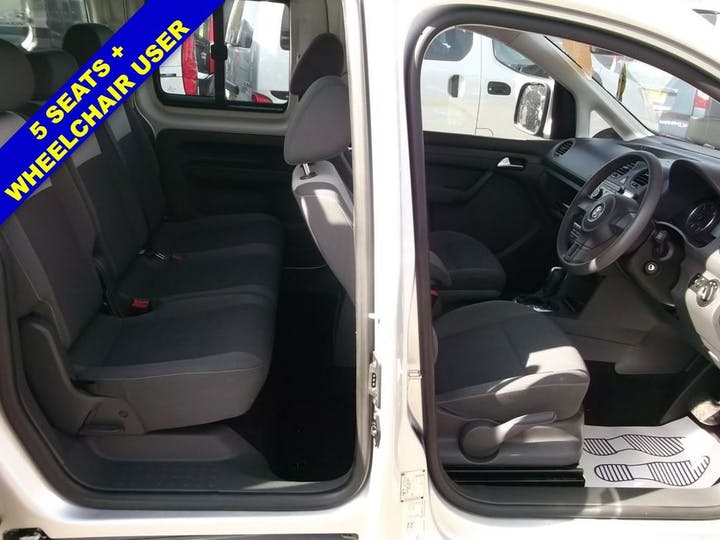Silver Volkswagen Caddy Maxi C20 Life TDi 2012