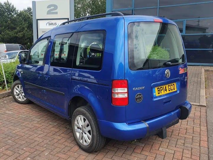 Blue Volkswagen Caddy C20 Life TDi 2014