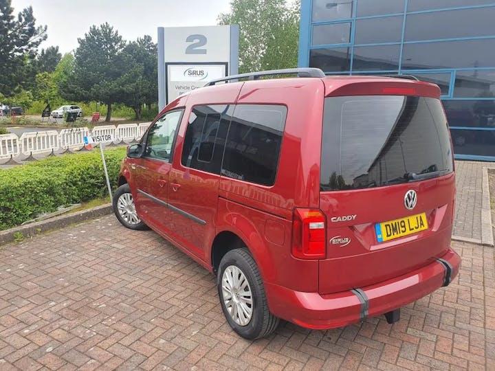 Red Volkswagen Caddy C20 Life TDi 2019