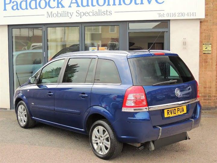 Blue Vauxhall Zafira Design 2010
